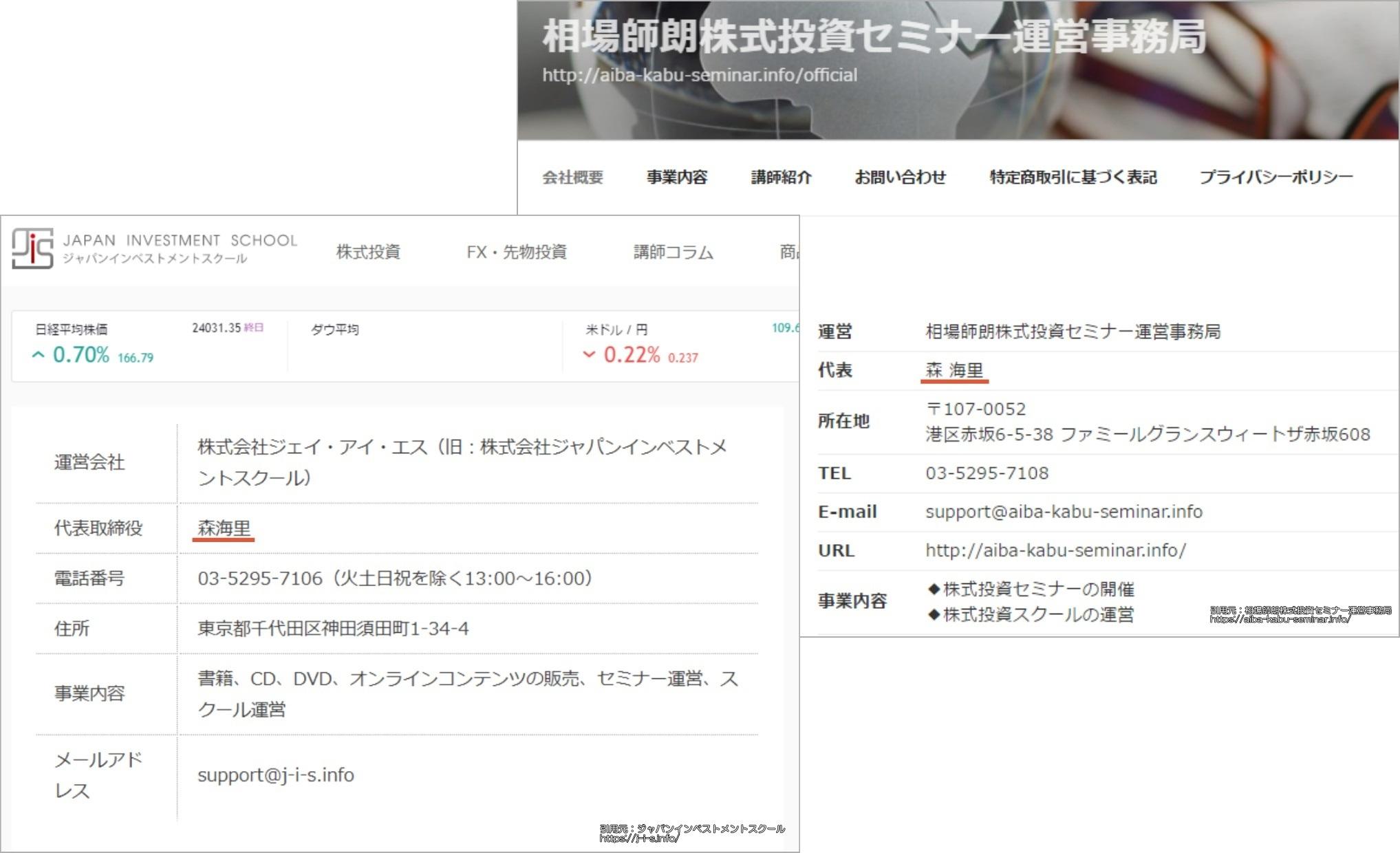 相場師朗の株塾とジャパンインベストメントスクールの関連性