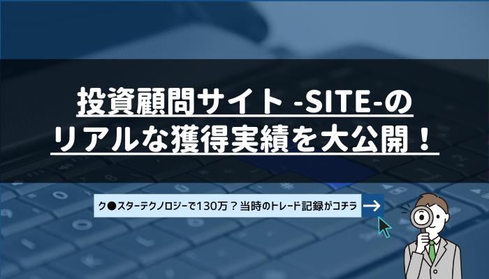 サイト -SITE-のリアルな獲得利益を大公開